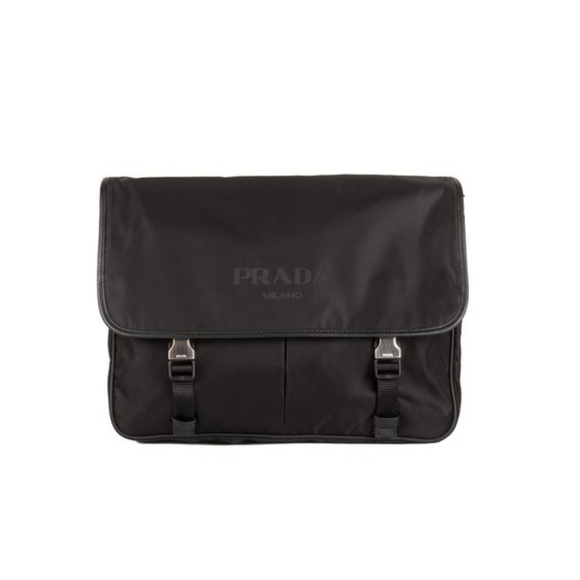 Prada Bags   Sale Nylon Messenger Bag Large Black   Poshmark 0f34c2832c